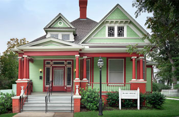 The Blake House is available for rental at the Starr Family Home State Historic Site.