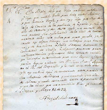 Ángel Navarro to Governor Manuel Muñoz, May 14, 1792. Courtesy of the Dolph Briscoe Center for American History at the University of Texas at Austin, Béxar Archives