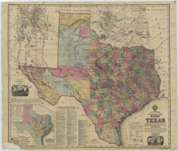 1874 Map of Texas, courtesy Texas State Archives (Map Number 1687)