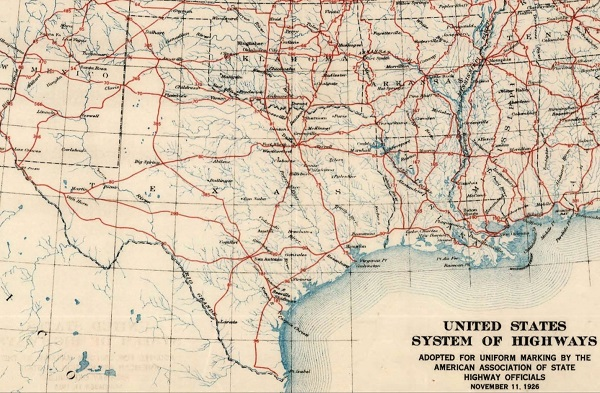 Texas Highway Department THCTexasgov Texas Historical Commission - Oklahoma highways map