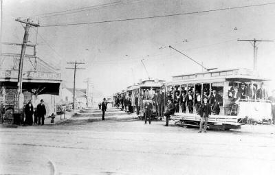 Dallas Streetcar 1890, photo from THC files