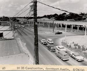 Construction of IH 35 in Austin.