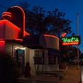 Hut's Hamburgers sign