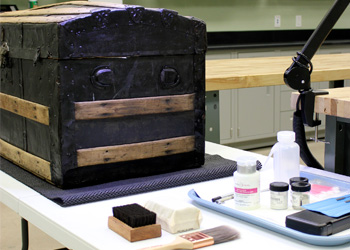 The Texas Historical Commission's (THC) Curatorial Facility for Artifact Research (CFAR) houses historic and archeological collections from the THC's 21 state historic sites.