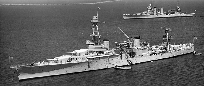 Photo of USS Houston from 1934 (Courtesy of US Navy)