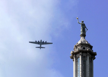 B-17 over State Capitol