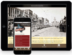 WWI Mobile App Tour Tablet Image