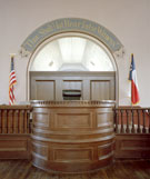 after restoration, Red River County Courthouse