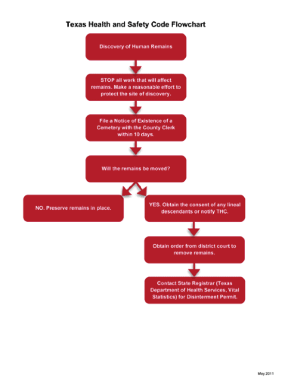 Texas Health and Safety Code flowchart