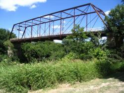 Clifton Whipple Truss Bridge, Bosque County; photo courtesy TxDOT