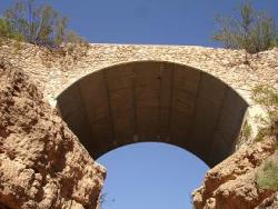 Pinto Canyon Bridge in Presidio County, built after World War II; photo courtesy TxDOT