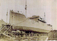 The Utina, one of the wooden steamships  built during World War I that eventually  sank in Texas waters.