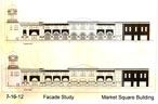 Drawings of a facade for Brownsville market square