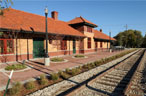 Train depot after restoration
