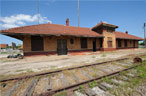 Train depot in Waxahachie before restoration