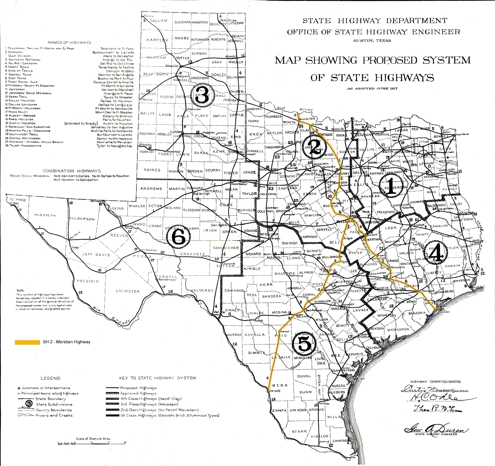 Meridian Highway History THCTexasgov Texas Historical Commission