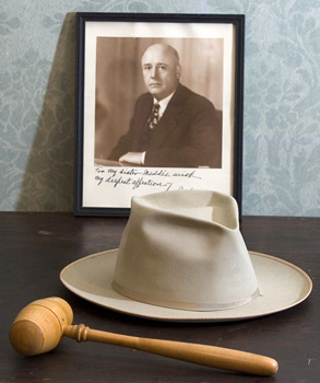 Sam Rayburn Hat and Gavel
