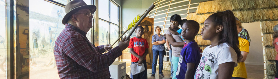 Children get hands-on learning at Caddo Mounds