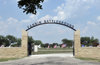 Entrance to Fannin Battleground