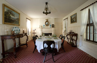 Dining room of a historic home