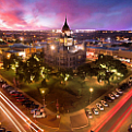 Denton County Courthouse at night