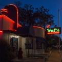 Huts Hamburgers Neon Sign