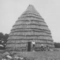 Replica Caddo grass house in 1981