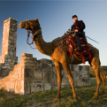 Fort Lancaster camel reenactor