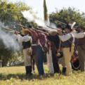 Texian reenactors at Fannin Battleground