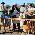 POW camp reenactors at Fort McKavett