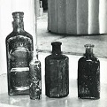 Photograph of historic bottles