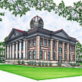 Illustration of the Jeff Davis County Courthouse