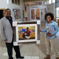 Presentation of Juneteenth painting and sculpture