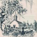 Sketch of Meyersville's St. John Evangelical Lutheran Church