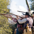 Texian reenactors at Fannin Battleground