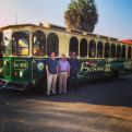 Historic trolley in Rio Grande City