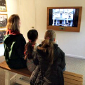Sam Rayburn House visitors watch orientation video