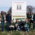 Junior Historians from Hopewell Middle School at Union Hill Cemetery