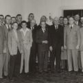 Rayburn with his Bonham friends on his 70th birthday.
