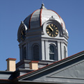 The Jeff Davis courthouse clock tower.