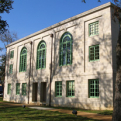 Side exterior of San Augustine County Courthouse.