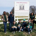 Junior Historians from Hopewell Middle School have been working to preserve Union Hill Cemetery