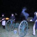 Brazoria Militia members fire the cannon.