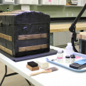 The Texas Historical Commission's (THC) Curatorial Facility for Artifact Research (CFAR) houses historic and archeological collections from the THC's 22 state historic sites.