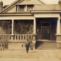Historic photo of the August Justice House, now the Magoffin Home Visitors Center