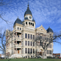 Photo of the restored Denton County Courthouse