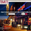 Downtowntx.org homepage screenshot