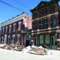 Photo of buildings damaged during Hurricane Ike.