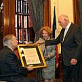 Gov. Abbott presents award to Dr. Truett and Harriet Latimer