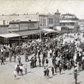 Historic image of Georgetown's courthouse square.